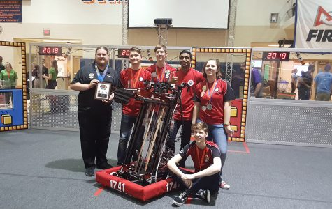 Robotics team wins Chairman's Award at District; team headed to state