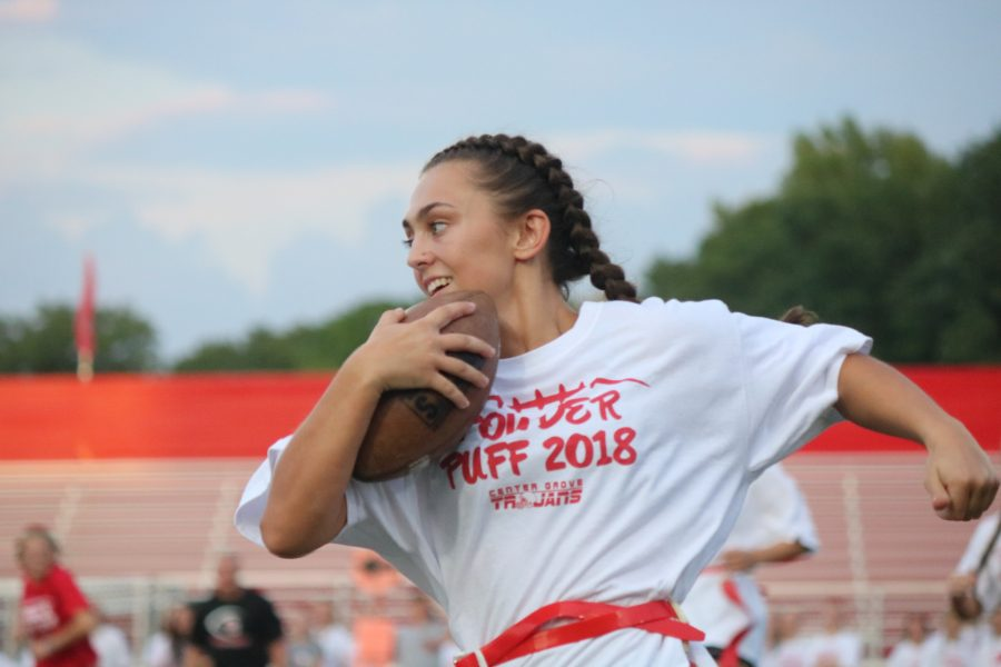 Senior%2Ffreshman+Powderpuff+team+takes+victory+in+annual+game