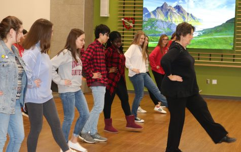 Foreign Language Honor Societies learn traditional folk dances