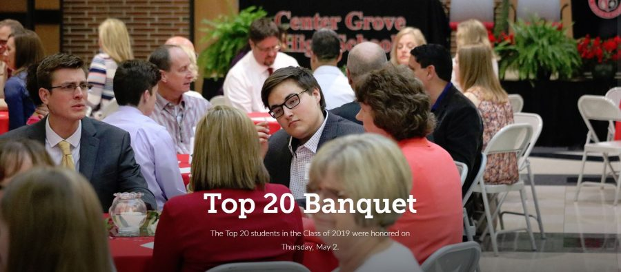 Class of 2019 top 20 students honored at banquet