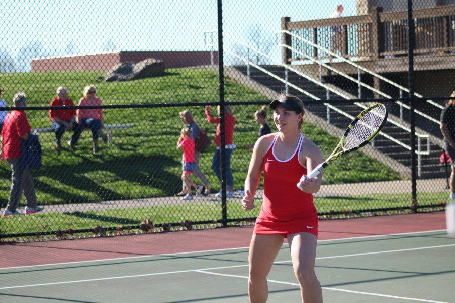 Senior ends tennis regular season, prepares for Air Force Academy