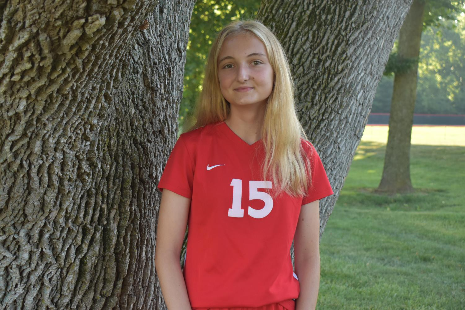 Nadja Hadzialagic is a foreign exchange student playing on the JV soccer team.