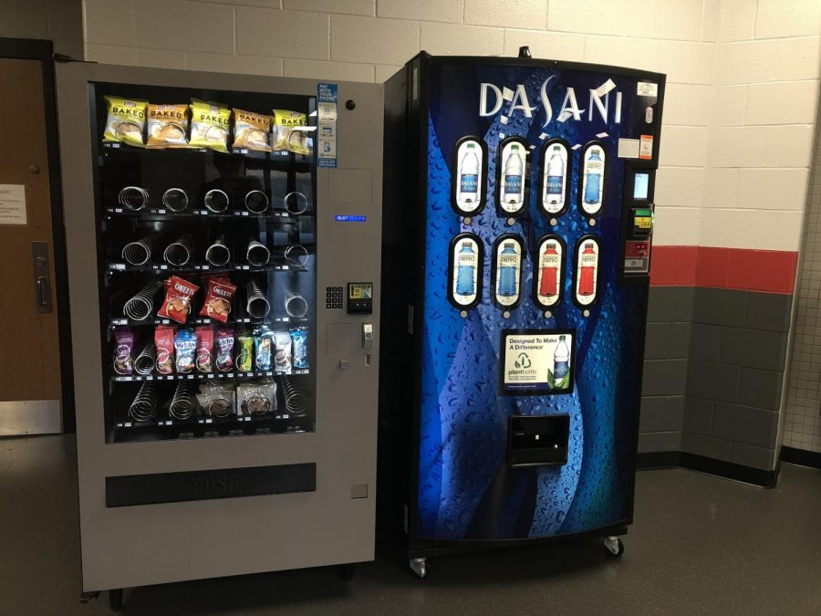 School adds snack vending machine near the Vandermeer Gym