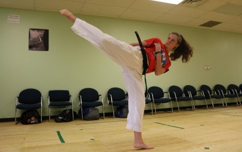 Sophomore masters karate for self-defense, fitness