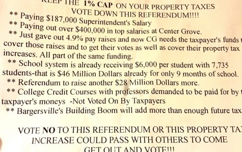 This flyer was posted to mailboxes in the Center Grove area by an anonymous source.