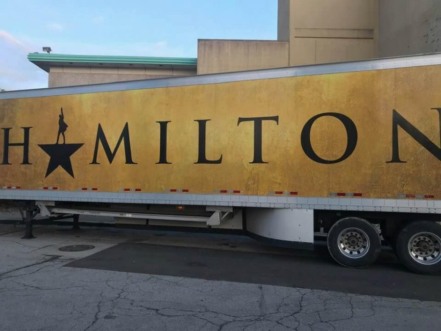 The+semi-truck+for+the+touring+Hamilton+production.