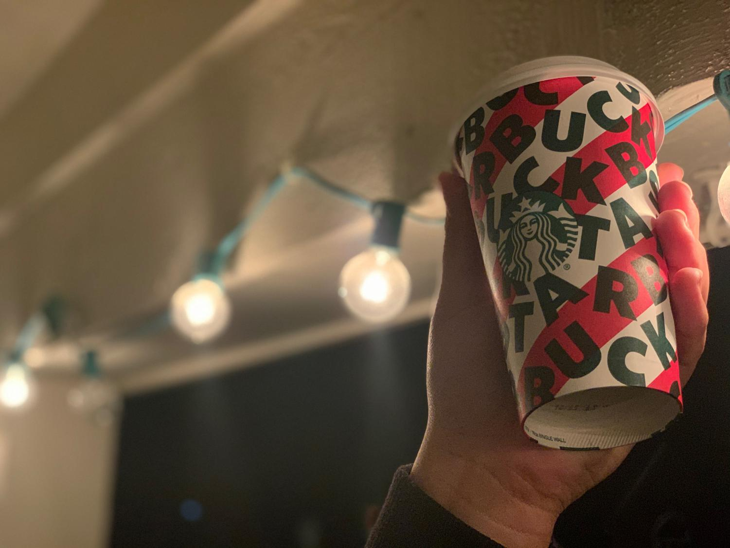 One of Starbucks' 2019 holiday cup designs. The cup controversy started in 2015, but the brand faces yearly backlash for making plain holiday cups.