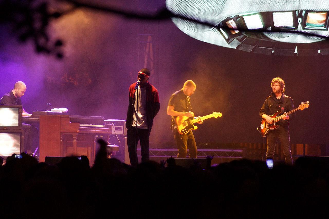 R&B singer Frank Ocean performs at Lollapalooza in 2012.