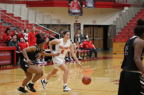 Girls Basketball Team takes on MIC rival Lawrence North