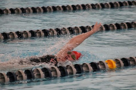 Girls swim and dive teams kick off sectionals at Franklin Community High School