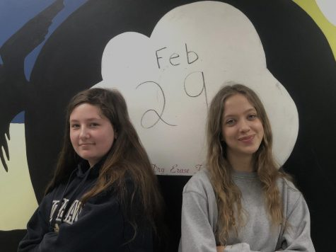 Olivia Steele and Rachel Stewart-Allen are the only two current students who celebrate Leap Day birthdays.