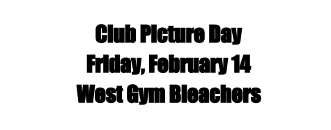 Club Picture Day to take place Friday, Feb. 14