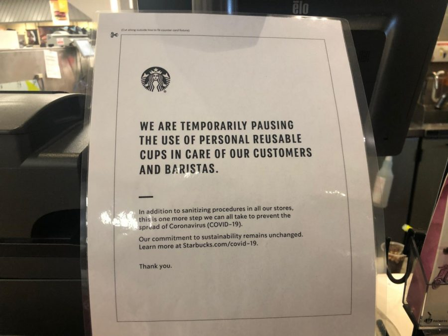 Some places, like Starbucks, are changing their procedures and ramping up their sanitary precautions in order to keep both customers and employees safe.