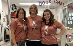 Kara Heichelbech, Mrs. Tichenor, and Ashley Cousino left to right.)