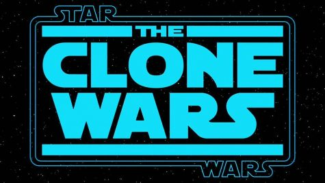 "The logo for ""The Clone Wars."""