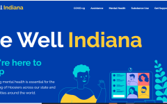 A screenshot of Be Well Indiana's site map.