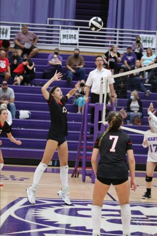 Freshman volleyball player Reese Dunkle making an early impact